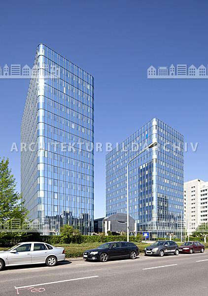b rogeb ude blue towers frankfurt am main architektur bildarchiv. Black Bedroom Furniture Sets. Home Design Ideas