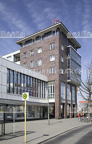 gesch ftshaus c a berlin tegel architektur bildarchiv. Black Bedroom Furniture Sets. Home Design Ideas