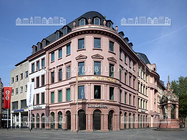 gesch ftshaus markt 19 29 mainz architektur bildarchiv. Black Bedroom Furniture Sets. Home Design Ideas