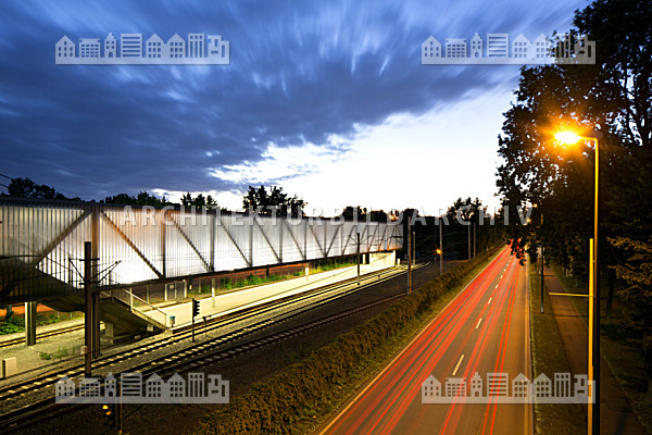 Nahverkehrsanlage veltins arena gelsenkirchen architektur bildarchiv - Architekt gelsenkirchen ...
