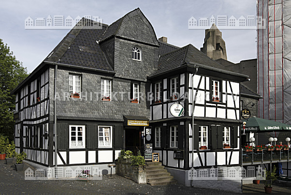restaurant im historischen ortskern bensberg bergisch gladbach architektur bildarchiv. Black Bedroom Furniture Sets. Home Design Ideas