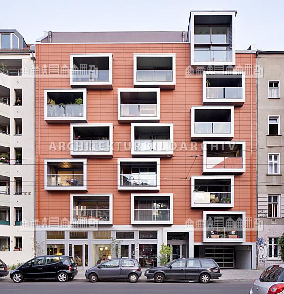 wohngebäude pappelallee 25 berlin - architektur-bildarchiv